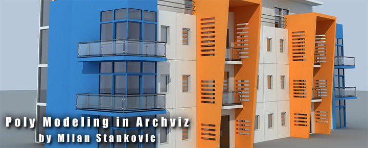 "Tutorial - 3ds Max& Vray ""Poly Modeling in Archviz"" (Video) Header"