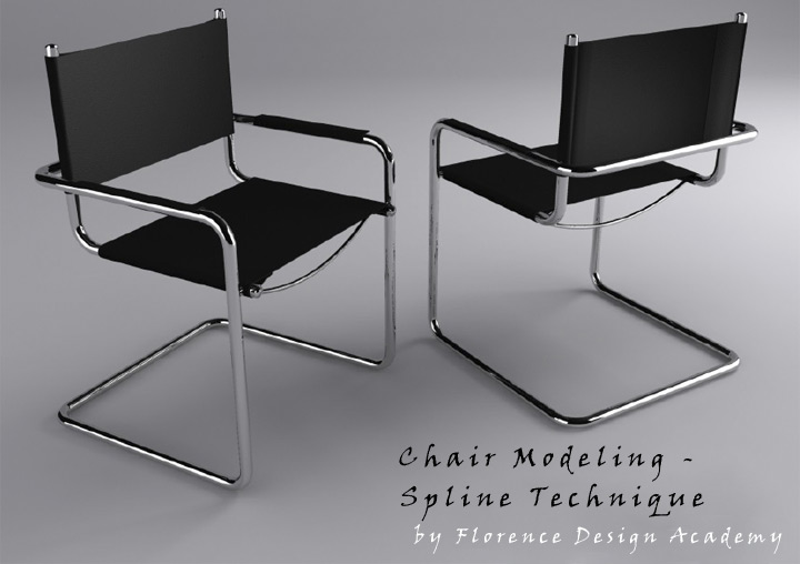 Cgarena chair modeling spline technique for Chair design 3ds max