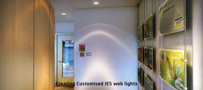 Creating Customised IES web lights for Vray or Mental Ray