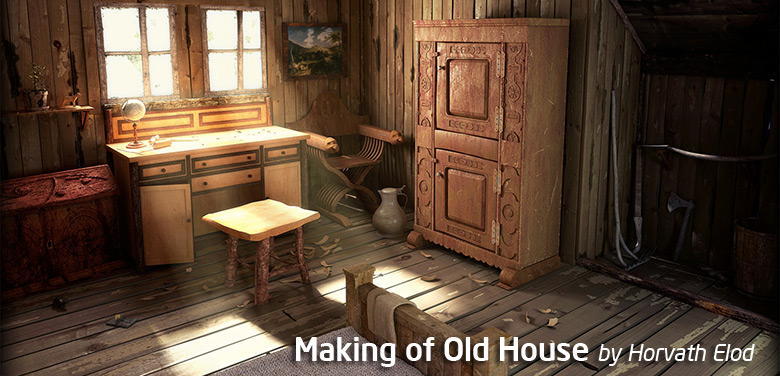 3ds max modeling making of old house tutorial for Classic house tutorial