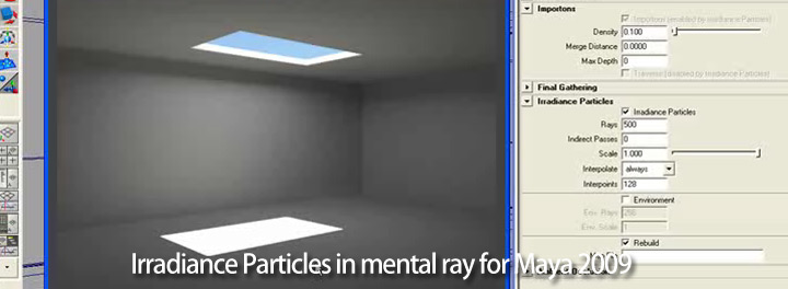 Maya Lighting Irradiance Particles In Mental Ray For Maya 2009 Tutorial