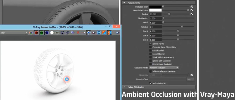 Ambient Occlusion with VRay - Maya