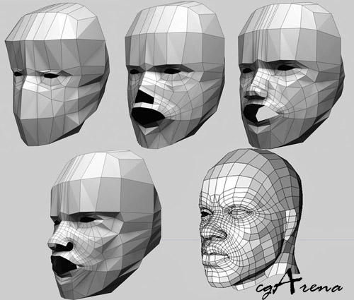 Making of portrait of a silent man in cinema 4d and zbrush for 3ds max face modeling