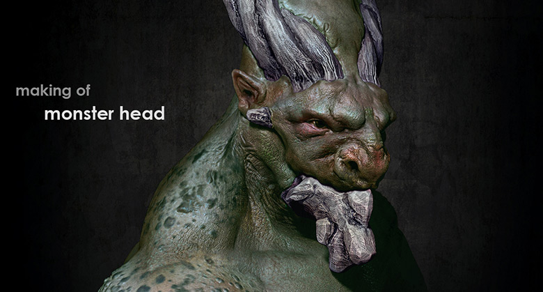Modeling Monster Head in Maya and ZBrush