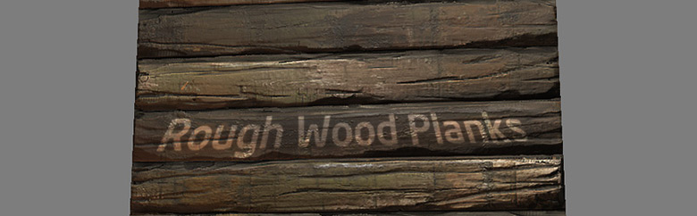 Rough wood planks in zbrush ds max