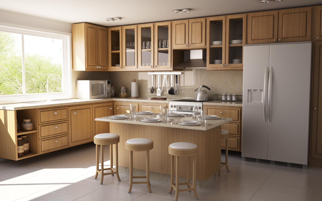 Small l shape kitchen design in keralla joy studio L shaped kitchen with island