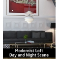 Modernist Loft Day & Night Scene