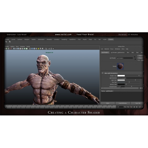 eat3d - shader production - writing custom shaders with cgfx
