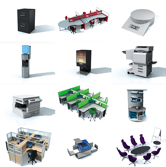 the different types of office equipment
